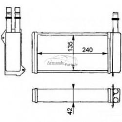 FD Escort 90-95 radiators salona visi mod RA71755