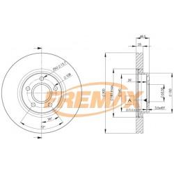 Bremžu diski FREMAX BD-3937, 09.9468.11, ADF124304, 1373370