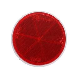 Atstarotājs apaļš sarkans 59mm ar līmlentu