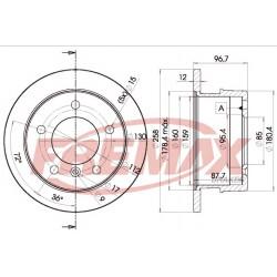 Bremžu diski BD-0184 Maxger 19-0793, A9014231012