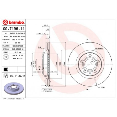 Bremžu diski FREMAX BD-5301, 18398, DF29468, 09.7196.11