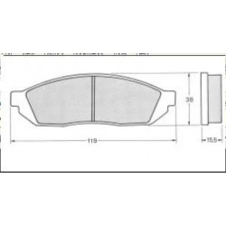 Bremžu kluči HONDA CIVIC 45022-SA0-660, FDB208